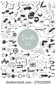 Big doodle set - Arrows
