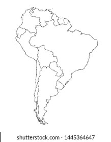 Big Equator subcontinent district zone shape on white backdrop. Freehand line dark black ink hand drawn symbolic web logo emblem pictogram frame in art modern grunge doodle cartoon style pen on paper