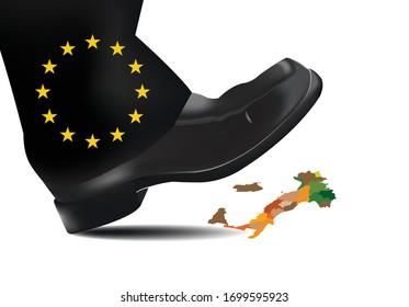 big european foot crushes italy