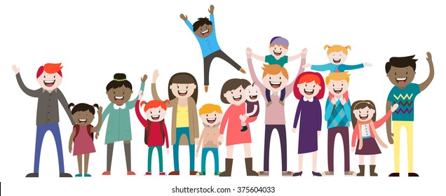Big Family Cartoon Images, Stock Photos & Vectors ...