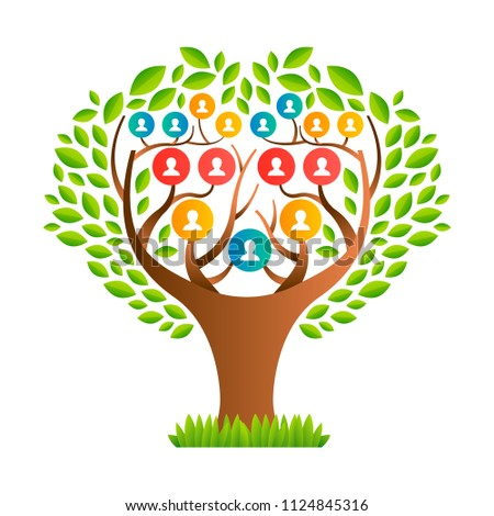 big family tree template concept people stock vector royalty free