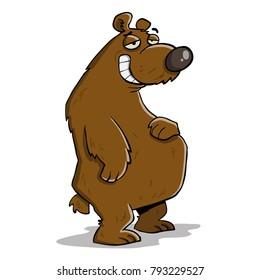 Big fat lazy bear