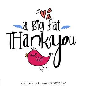 A big fat thank you