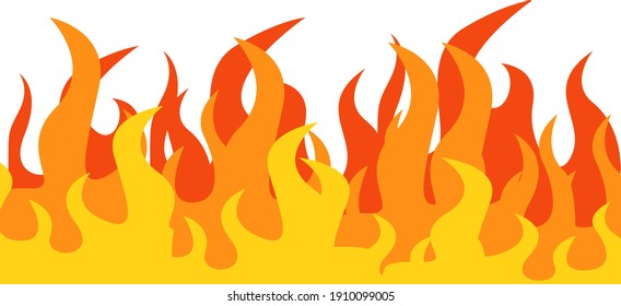 Big fire, illustration, vector on a white background.