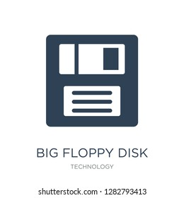 big floppy disk icon vector on white background, big floppy disk trendy filled icons from Technology collection, big floppy disk vector illustration