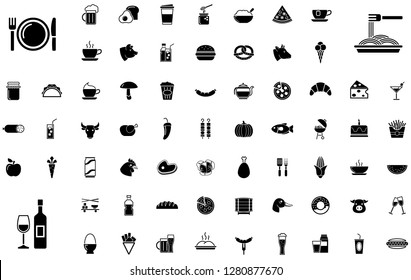 BIG - food and drink icon set
