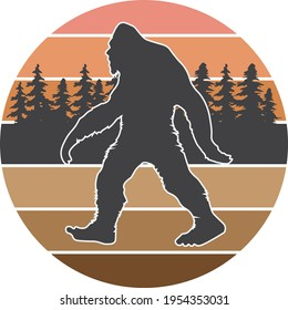 BIG FOOT ICON SHAPE IN CIRCLE BACKGROUND