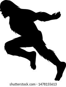 Big foot running like a ninja