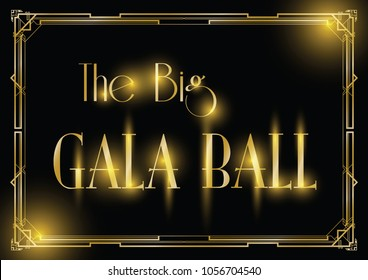 Gala invitation stock vectors images vector art shutterstock big gala ball art deco background stopboris Images
