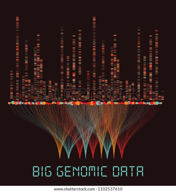 Big Genomic Data Visualization Dna Test Stock Vector (Royalty Free