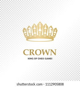 A big golden crown. Vector heraldic elements design