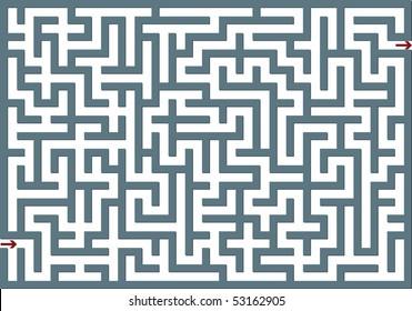 Big gray labyrinth