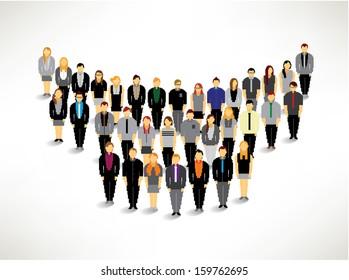 A Big Group of Businessman Gather Together Vector Design