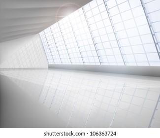 Big hall. Vector illustration.