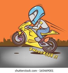 Big Head Ride Wheelie