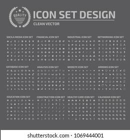 Big icon set vector