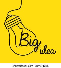 Big idea, creative and intelligence theme design, vector illustration