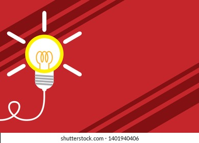 Big idea light bulb. Successful lamp idea. Emerging innovation. Turning idea invention. photo Art. Starting new project. Surging working environment success