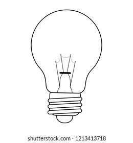 Big idea symbol in black and white
