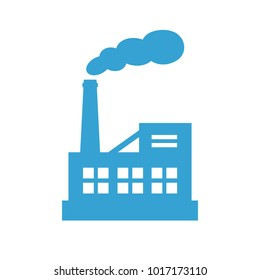 Big industrial factory vector icon isolated on white background
