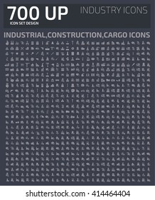 Big Industry icons,Big icons,industrial,construction icons,vector
