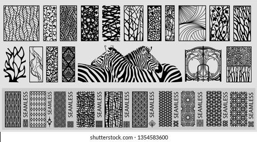 Big laser cut decorative wall panel pattern set