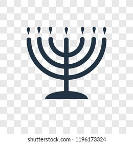 Big Menorah vector icon isolated on transparent background, Big Menorah transparency logo concept