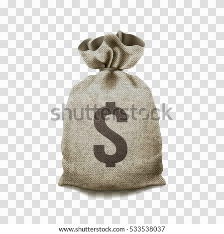 big money bag on transparent background のベクター画像素材