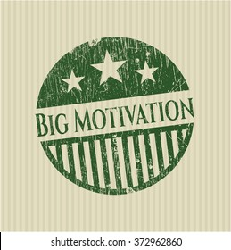 Big Motivation grunge stamp