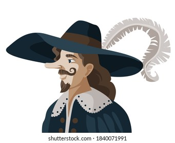 big nose cyrano victorian man