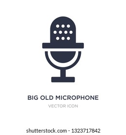 big old microphone icon on white background. Simple element illustration from Technology concept. big old microphone sign icon symbol design.