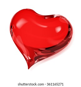 Big opaque heart in red colors