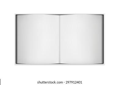 big open blank book, vector