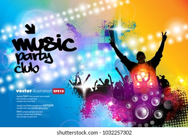 Big party, background for poster or banner