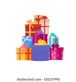 Big pile colorful wrapped gift boxes 482365975 big pile of colorful wrapped gift boxes gift symbol christmas gift box isolated negle Gallery