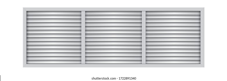 Big plastic air vent. Exhaust and supply ventilation system. Room conditioner element.
