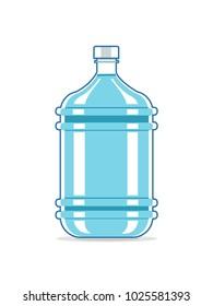 Big plastic bottle of water. Bottle for cooler.