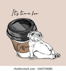 Pug Dog Coffee Images, Stock Photos & Vectors | Shutterstock