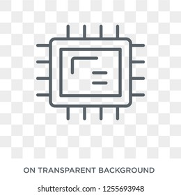 Big Processor icon. Trendy flat vector Big Processor icon on transparent background from hardware collection. High quality filled Big Processor symbol use for web and mobile