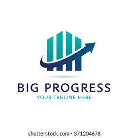 Big Progress Logo Icon Elements Template