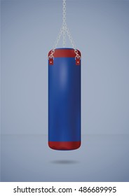Big punching bag. Vector illustration
