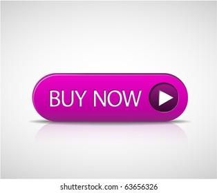 Big purple buy now button with shadow and reflections