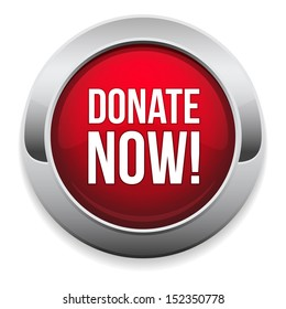 Big red donate now button