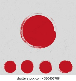 Big red grunge circle
