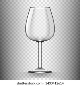 Big Reds Wine Empty Glass Without Wine. EPS10 Vector