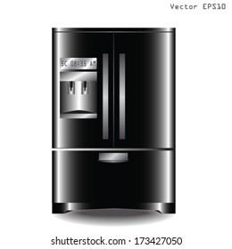 big refrigerator vector