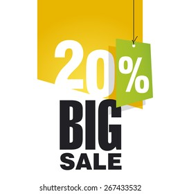 Big Sale 20 percent off orange background