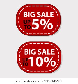 Big sale Up to 5 and 10 percent sale banner