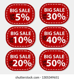 Big sale Up to 5 to 50 percent sale banner