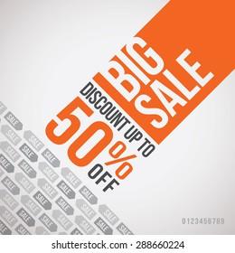 Big sale up to 50% off. Vector illustration
